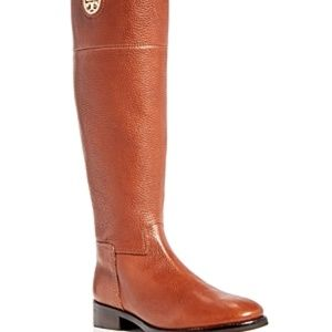 NWT! Tory Burch Junction Riding Boot Almond Gold